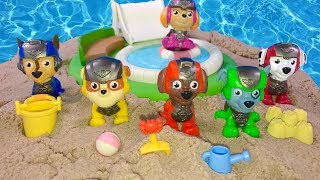 Learn Colors with Paw Patrol Mission Pups on the Beach Magic Sand | Fizzy Fun Toys