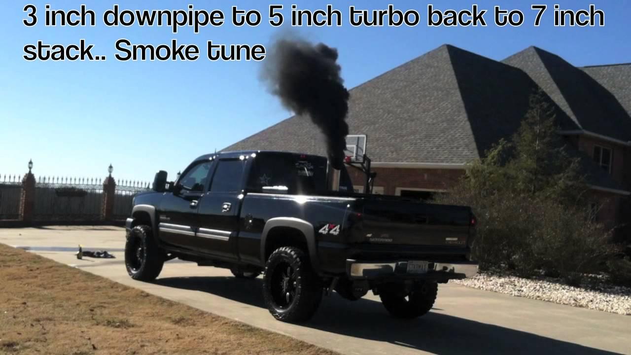 Duramax 7 inch ... Lifted Duramax Diesel Blowing Smoke