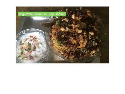 Veg Biryani in Rice Cooker