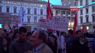 LIVE Salvini a Firenze, contro-corteo. Incidenti con la polizia: diretta video