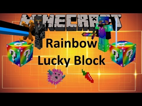 Minecraft: RAINBOW LUCKY BLOCK MOD