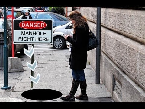 Texting While Walking Can Be DANGEROUS!