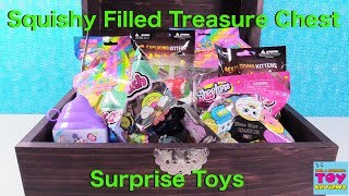 Squishy Treasure Chest Surprise Toys Squish-Dee-Lish Smooshy Mushy Toy Review | PSToyReviews