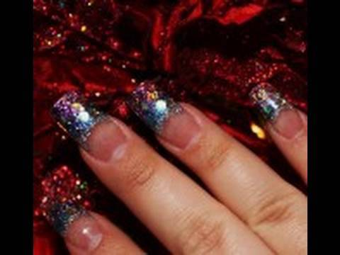 Glitter Nails : Colorful Acrylic Nails