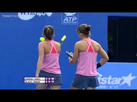 Black and Mirza Vs Errani and Vinci WTA China Open 2013 Semi-Final Match Point -