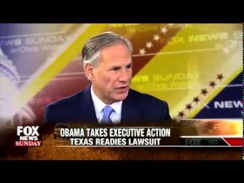Greg Abbott on Fox News Sunday Discusses Fighting Obama