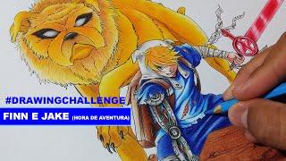Drawing Challenge - Finn e Jake (Hora de Aventura/ Adventure Time)