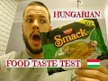 TRYING SMACK FOR THE FIRST TIME - HUNGARIAN FOOD TASTE TEST