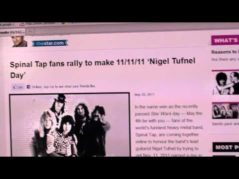 11/11/11 'Nigel Tufnel Day' Spinal Tap Fans Rally