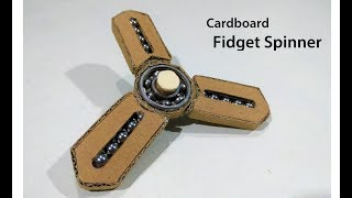 How to make a Amazing Fidget spinner From Cardboard