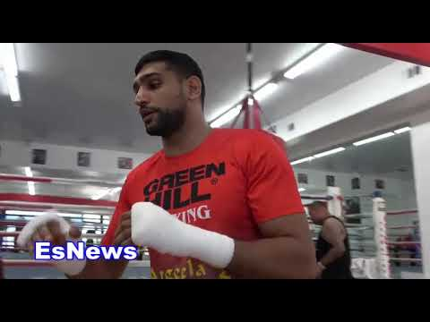 Amir Khan talks about the sparring he's getting in LA EsNews Boxing