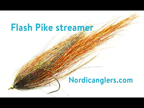 Pike Fly tying lesson, Step by step: Flash pike streamer.