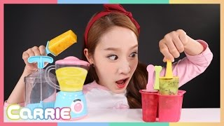Carrie make fruit ice ax Toy Play | CarrieAndToys