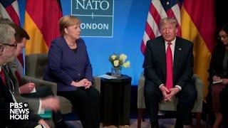 Watch Trump holds meeting with Angela Merkel at 2019 NATO summit