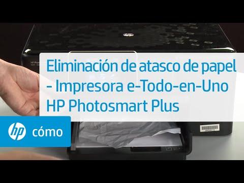 Eliminación de atasco de papel - Impresora e-Todo-en-Uno HP Photosmart Plus (B210a)
