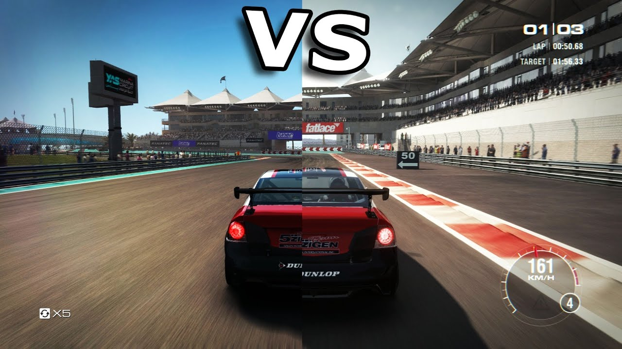 Grid Autosport Vs Grid 2 Side By Side YouTube