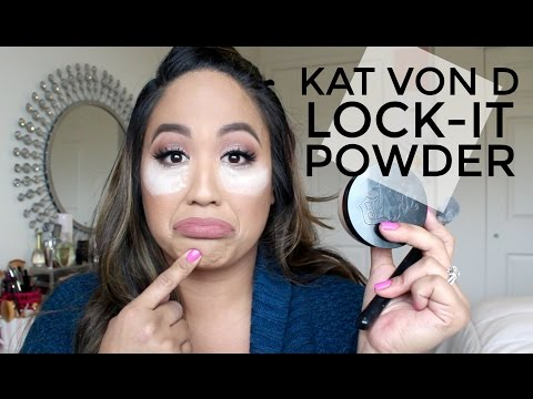 Kat Von D Lock-It Setting Powder   Review & Demo   Joyce Golden