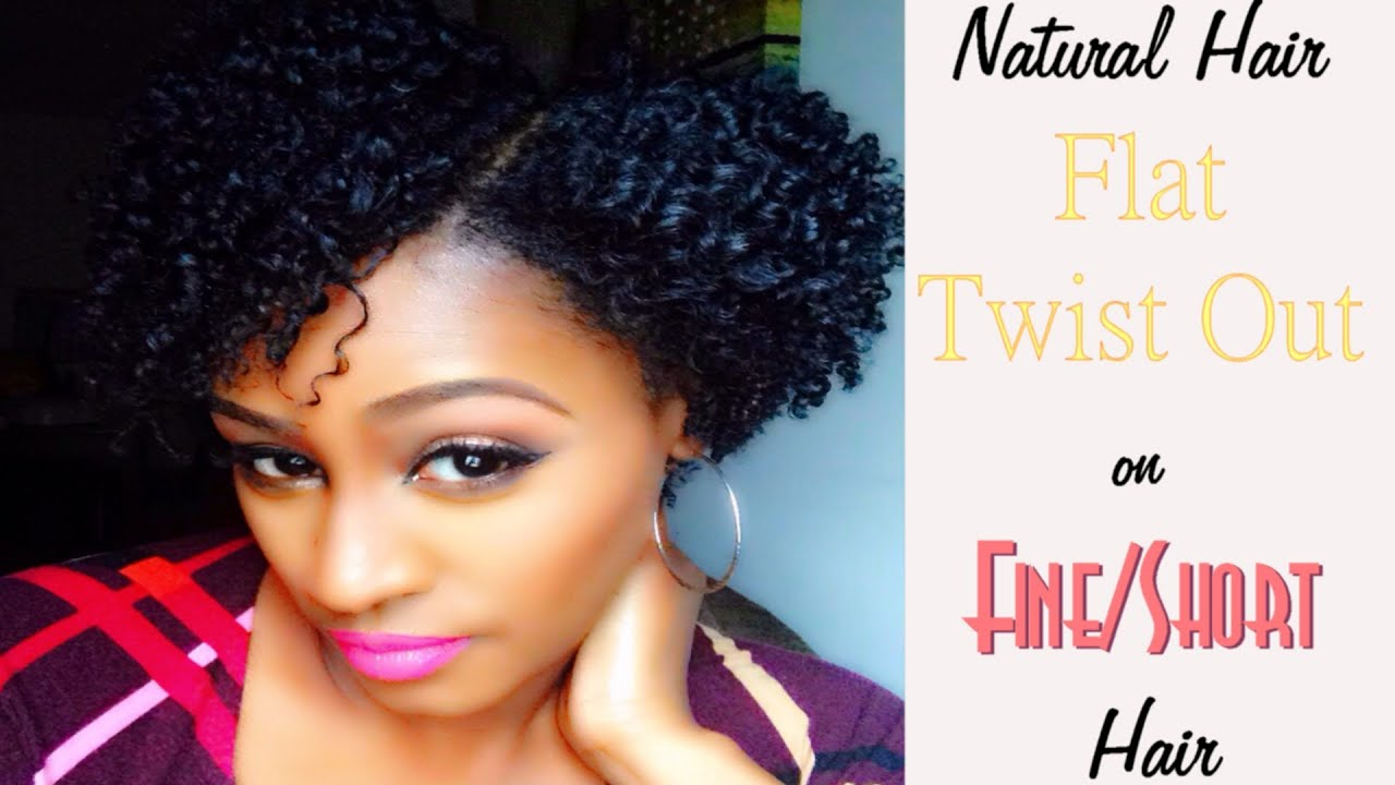 Natural Hair Styles With Marley Hair: Flat Twist Out On Fine/Short Hair - YouTube