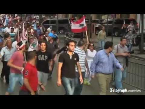 Gunfire as police and protesters clash in Beirut