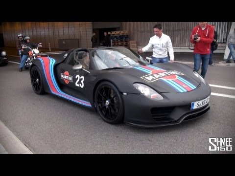 Porsche 918 Spyder Martini Track Pack - Startup and Accelerations