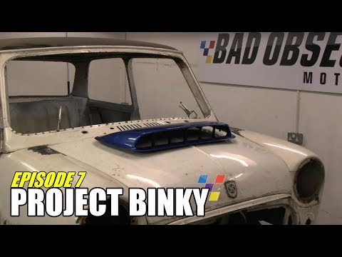 In episode 7 of Project Binky, the Mini gets most of the chassis fabrication completed, the radiator gets sorted and the car gets electric windows and centra...