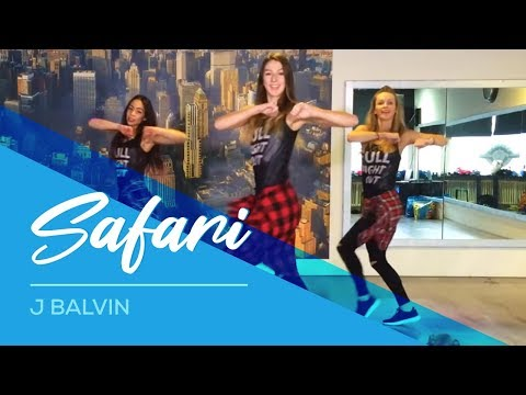 Safari - J Balvin - Watch on computer/laptop Easy Fitness Dance Choreography