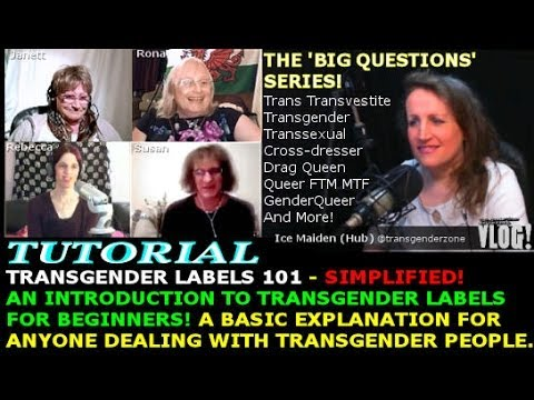 Transgender Zone Vlog Episode  27 Nov 11th, 2013    Tutorial   Transgender Labels For Beginners
