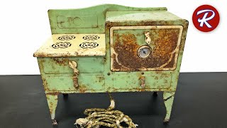 Vintage Toy Electric Oven Restoration - Little Lady Range By Kingston