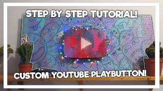 How To Make a DIY Youtube Play Button | Step By Step Tutorial | LukassDraws#12