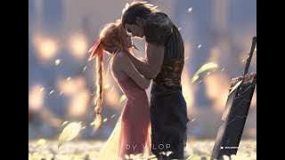 Photoshop painting process - Zack and Aerith
