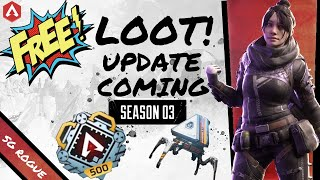 APEX LEGENDS NEW UPDATE | 199 FREE APEX PACKS, GUN CHARMS, level 500 COMING! Season 3 News Patch 3.2
