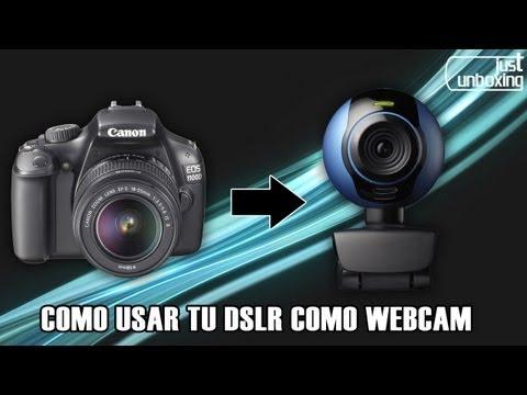Cómo usar tu cámara réflex como webcam | Just Unboxing