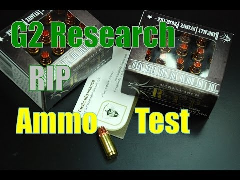 G2 Research R I P  9mm Ammo Test