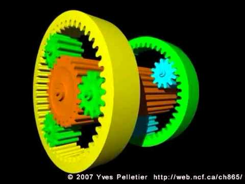 Planetary Gear Set >> Simpson compound planetary gear set - YouTube
