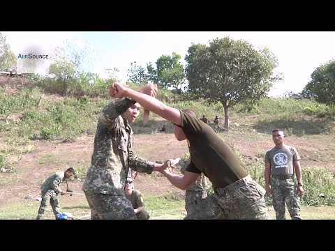 Philippine Marines Participate in Close Quarters Martial Arts, Sword/Knife Fighting Image 1