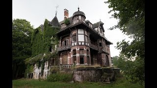 Abandoned Mansion (appears in TIM BURTON MOVIE!) Chateau Nottebohm - Urban Exploration Belgium