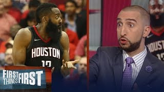 Nick Wright reveals Rockets issues after they dropped Game 1 to Warriors | NBA | FIRST THINGS FIRST
