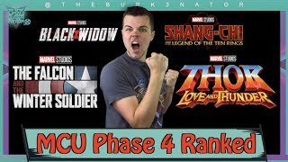 MCU Phase 4 Movies and Shows Ranked - Most Anticipated