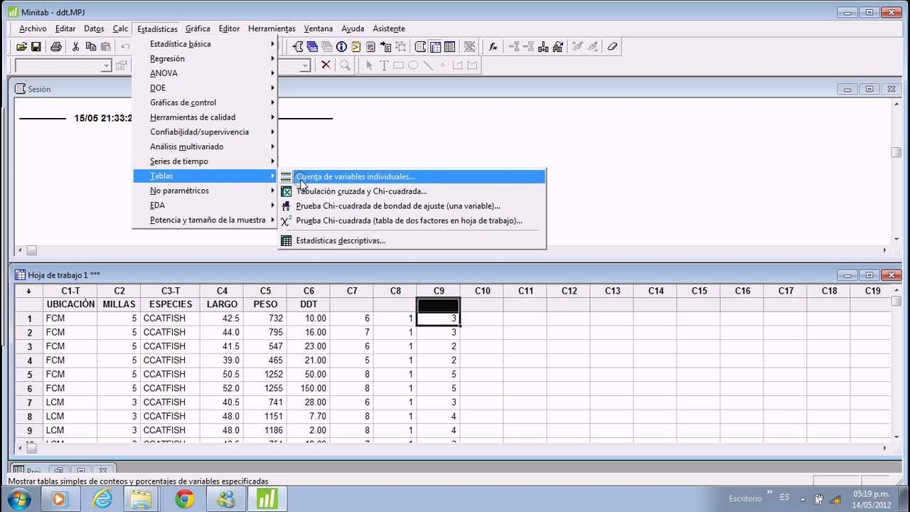 tabla de frecuencia en minitab16 youtube