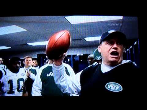 Rex Ryan Locker Room speech after win over Patriots