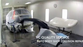 Fixing  and Painting Honda CR-V Collision Repair and Paint