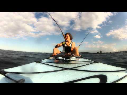 HD Kayak fishing  - Palm beach reef (Mac Tuna)