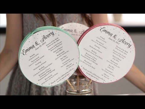 DIY Ceremony Programs Your Guests Will Love