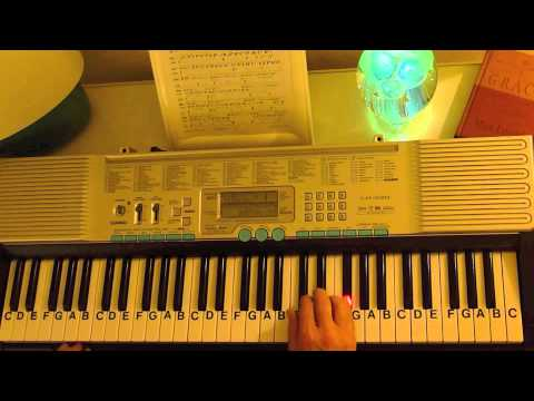 How to Play ~ November Rain ~ Guns N' Roses Part 1 one of 2 ~ LetterNotePlayer ©