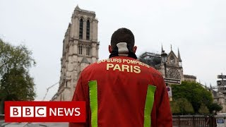Notre Dame: Priceless artefacts saved from blaze - BBC News