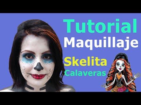 Tutorial Maquillaje Skelita Calaveras / Skelita Calaveras Makeup Tutorial