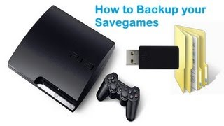 How to Back Up PS3 Game Saves and trophies [HD]