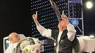 America's Got Talent 2013 Brad Byers SWALLOWING 9 SWORDS WITH A TWIST!