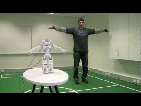 Teleoperation of a humanoid robot using full-body motion capture and machine learning