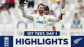 England v New Zealand - Day 1 Highlights | Con